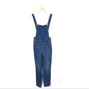 Madewell Skinny Overalls in Santiago Wash Small B9